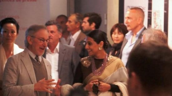 Vidya Balan Spotted with Steven Spielberg at the Cannes Film Festival 2013