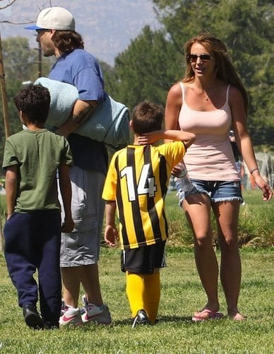 Britney Spears and Kevin Federline at their Kids' Soccer Game