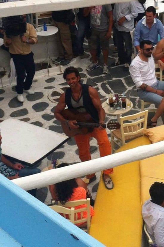 Hrithik Roshan Spotted on the sets of Bang Bang and at Mykonos Airport