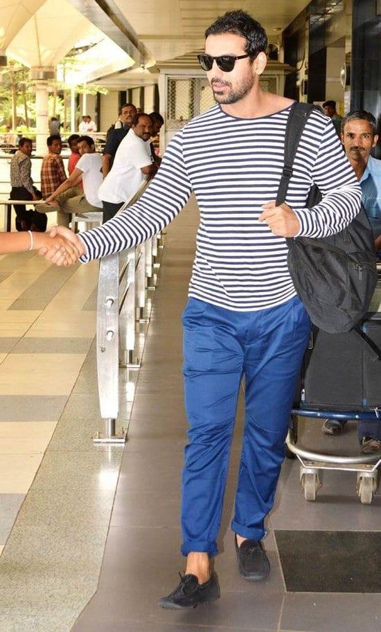 John Abraham Spotted at Mumbai Airport