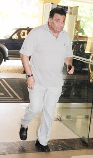 Rishi Kapoor at Priyanka Chopra's Father's Prayer Meet