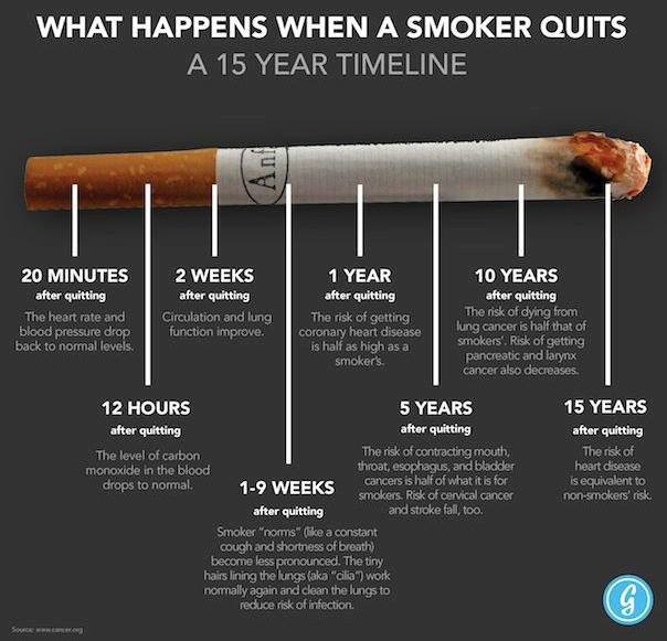 What Happens when a Smoker Quits - Smoking Cigarettes!