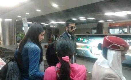 Ranbir Kapoor and Katrina Kaif Spotted at the Airport