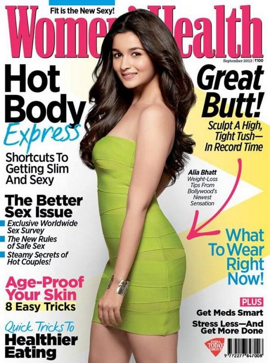 Alia Bhatt on Women's Health Magazine