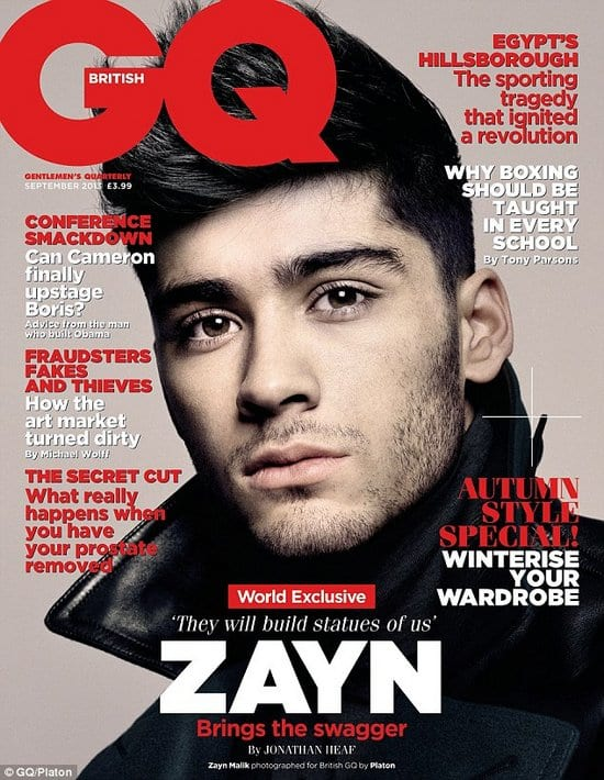 Harry Styles, Zayn Malik, Louis Tomlinson, Liam Payne and Niall Horan on GQ Magazine