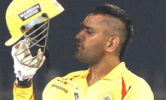 Mahendra Singh Dhoni Introduces his new Mohawk Hairstyle