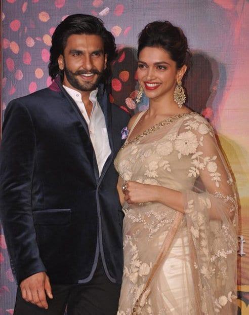 Ranveer Singh and Deepika Padukone at the Launch of Ram Leela Trailer
