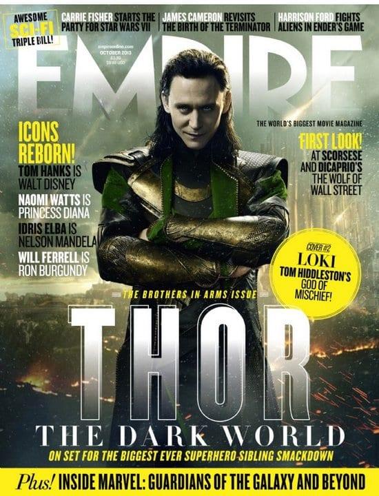 Tom Hiddleston and Chris Hemsworth on Empire Magazine