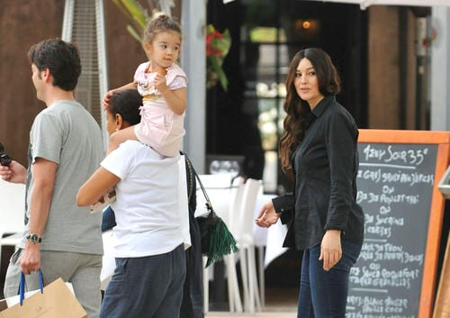 Monica Bellucci Spotted with her Daughter Leonie