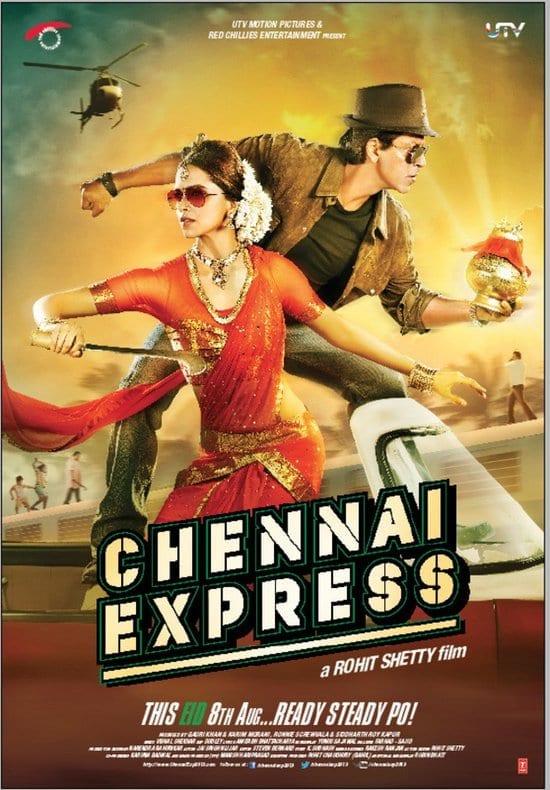 Chennai Express - 208 crore - Shah Rukh Khan & Deepika Padukone