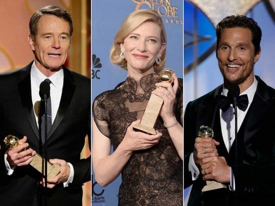 Jennifer Lawrence, Amy Poehler, Leonardo DiCaprio, Robin Wright, Andy Samberg and Brooklyn Nine Nine are Golden Globes 2014 Winners