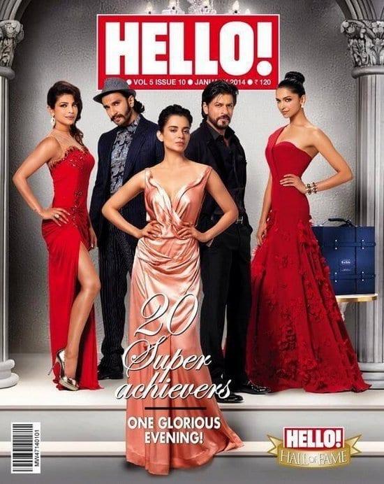 Shah Rukh Khan, Priyanka Chopra, Ranveer Singh, Deepika Padukone and Kangna Ranaut on Hello! Magazine
