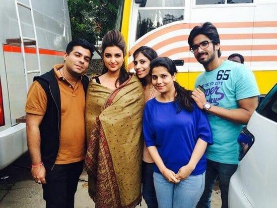 Ranveer Singh and Parineeti Chopra on the sets of Kill Dill