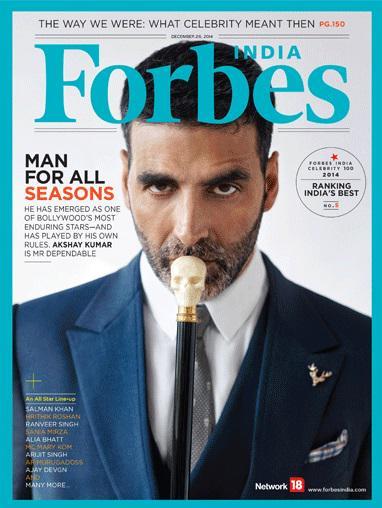 Akshay Kumar on Forbes Magazine