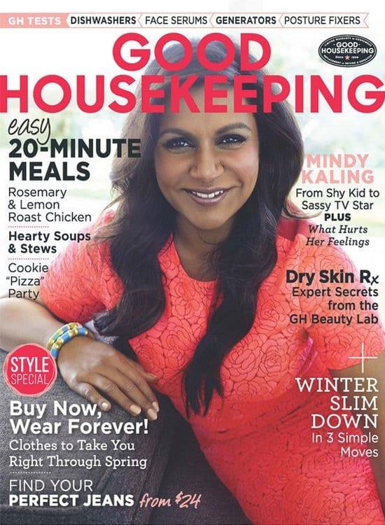 Mindy Kaling on Good Housekeeping Magazine