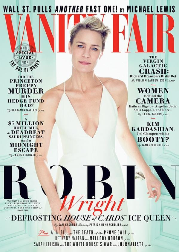 Robin Wright on Vanity Fair Magazine