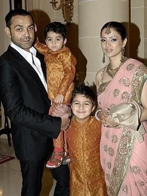 Bobby Deol with his Wife, Tanya & Kids