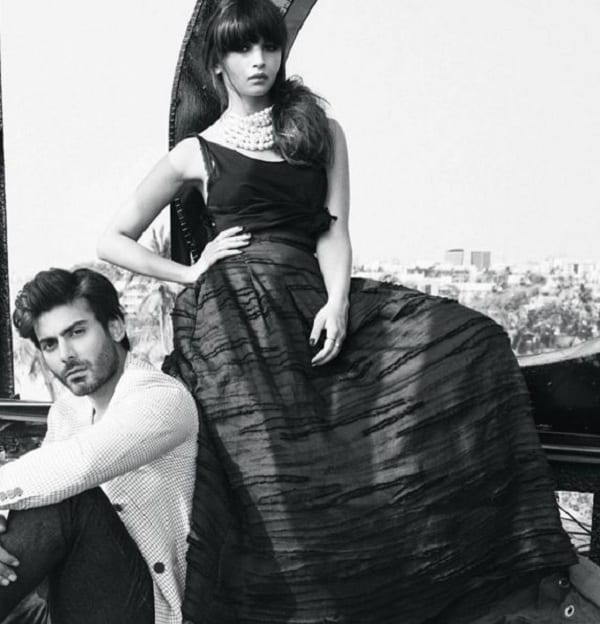Fawad Khan and Alia Bhatt in a Photoshoot from Filmfare Magazine