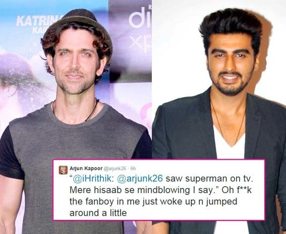 Arjun Kapoor on having a Man Crush on Hrithik Roshan