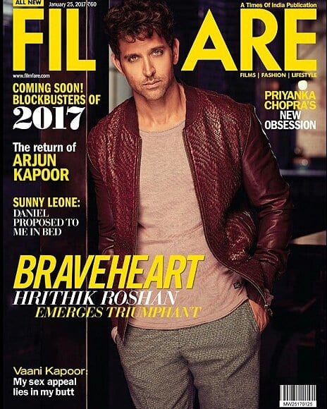 Hrithik Roshan on Filmfare Magazine