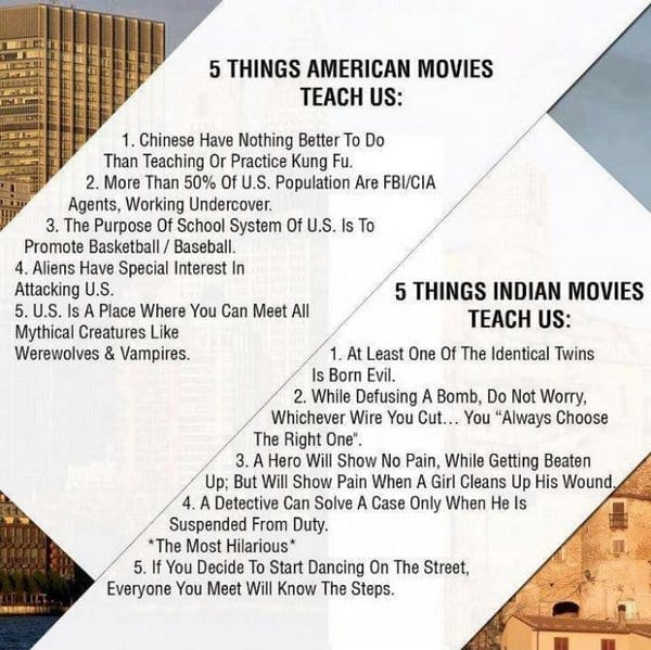 5 Things American and Indian Films Taught Us