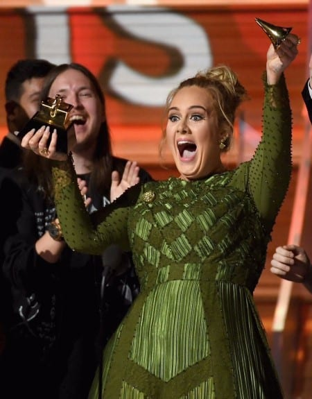 Adele got so scared she won over Beyonce at the Grammys