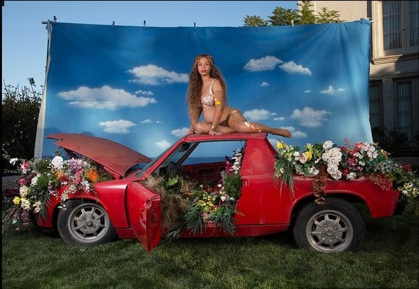 Beyonce showcases her pregnancy in a very weird photoshoot