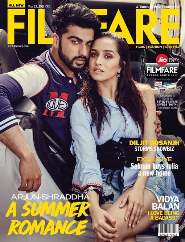 Arjun Kapoor and Shraddha Kapoor on Filmfare Magazine