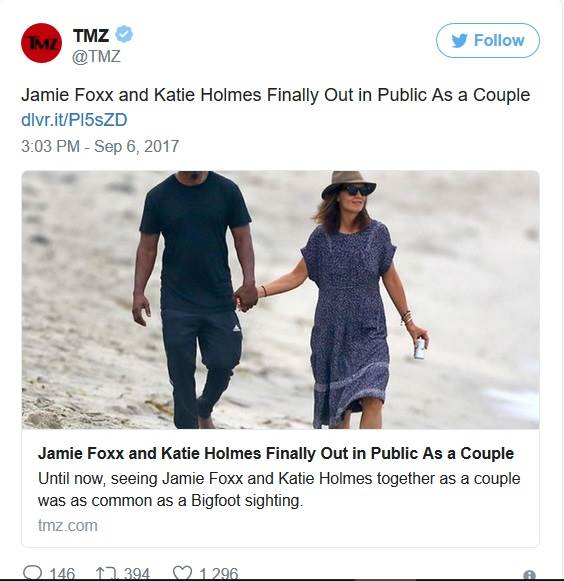 Katie Holmes and Jamie Foxx finally come out of the closet