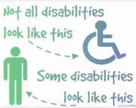 Unseen disabilities