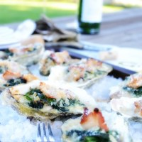 Oysters Rockefeller with Creamy Spinach & Bacon