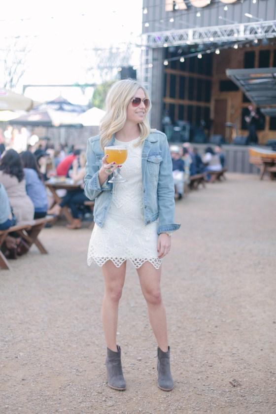 white crochet skirt and top