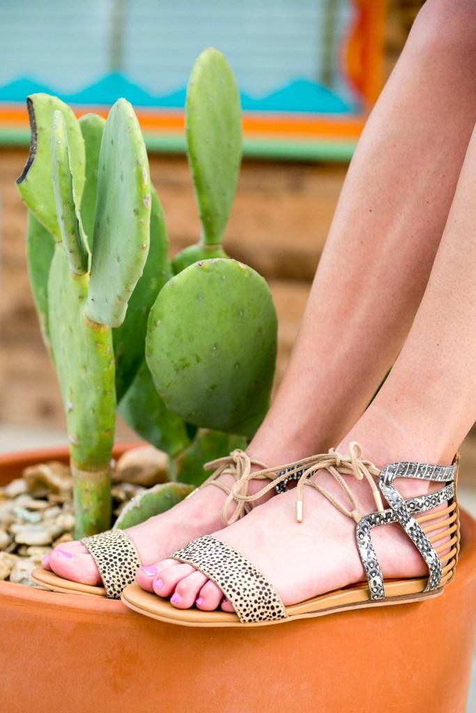 leopard summer sandal