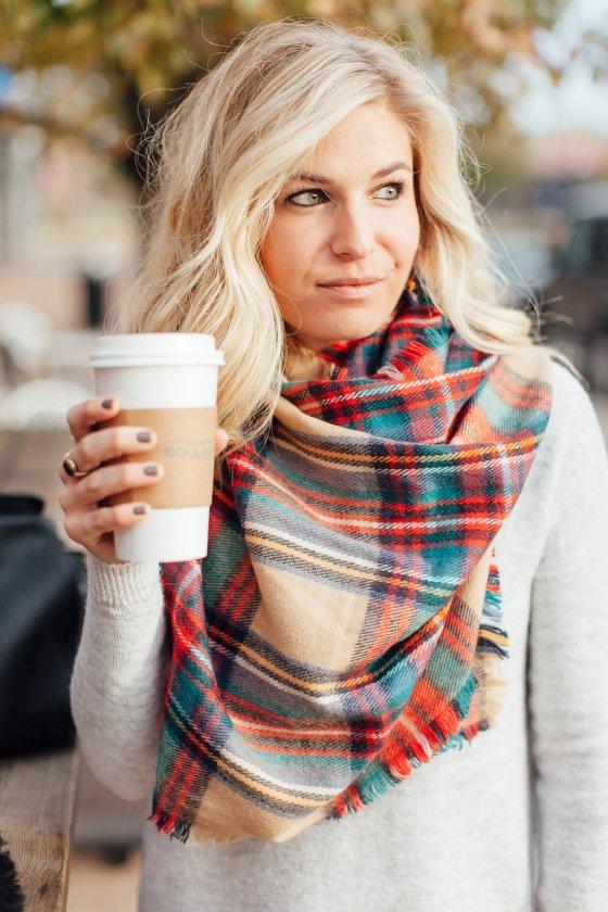 classic tartan scarf-plaid blanket scarf