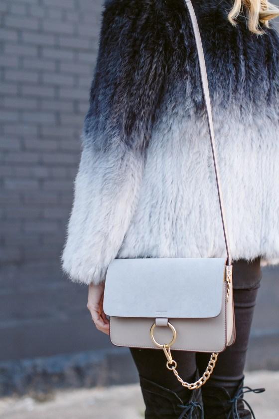grey chloe faye bag small