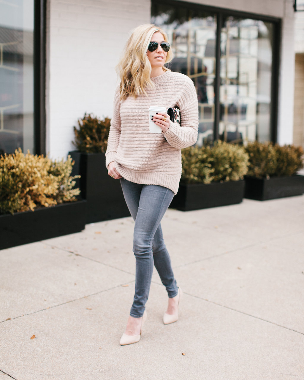 This cozy blush knit sweater has been replacing a lot of my neutral sweaters  in my outfit picks lately… I ve honestly been wearing it almost every ... 31089ee11