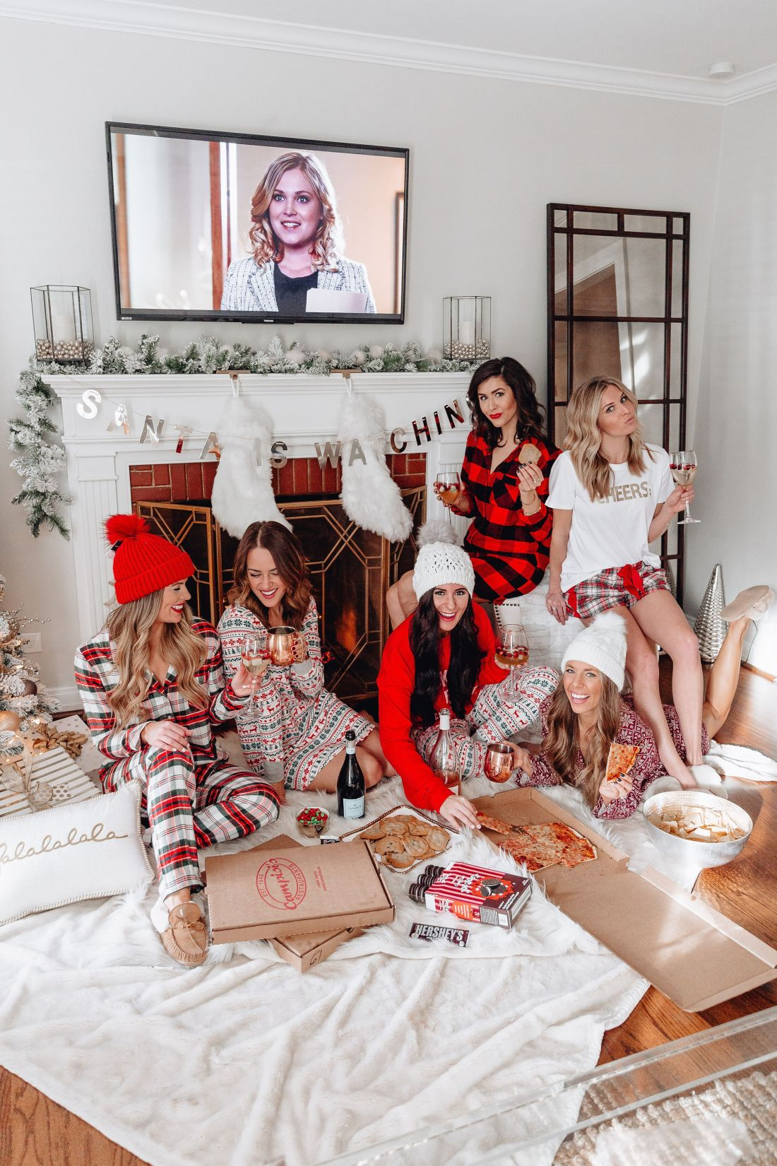 Christmas Pajama Party Girls Night Holiday Pajama Party Ideas