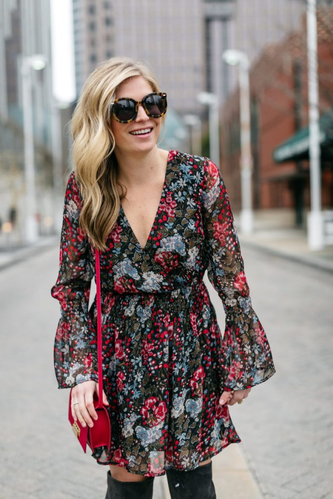 floral dress, valentines day