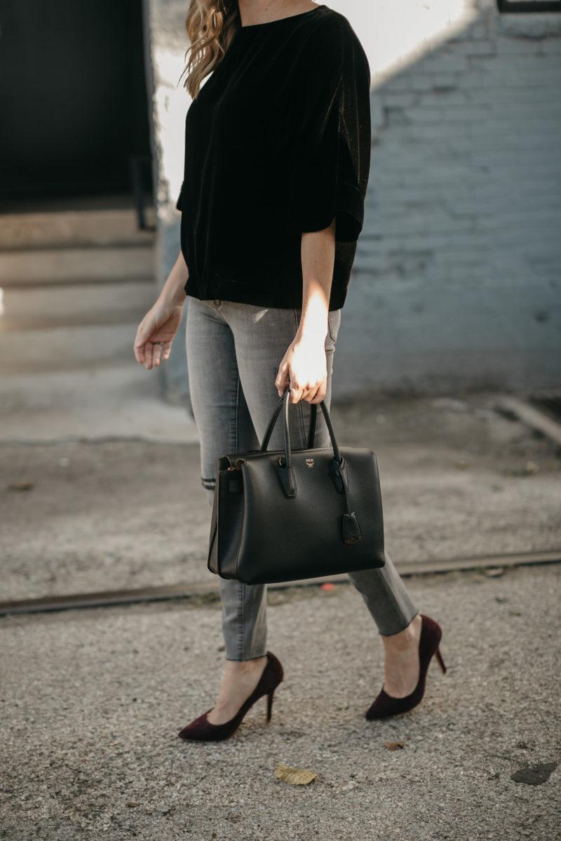 black handbag, accessories, fall trends