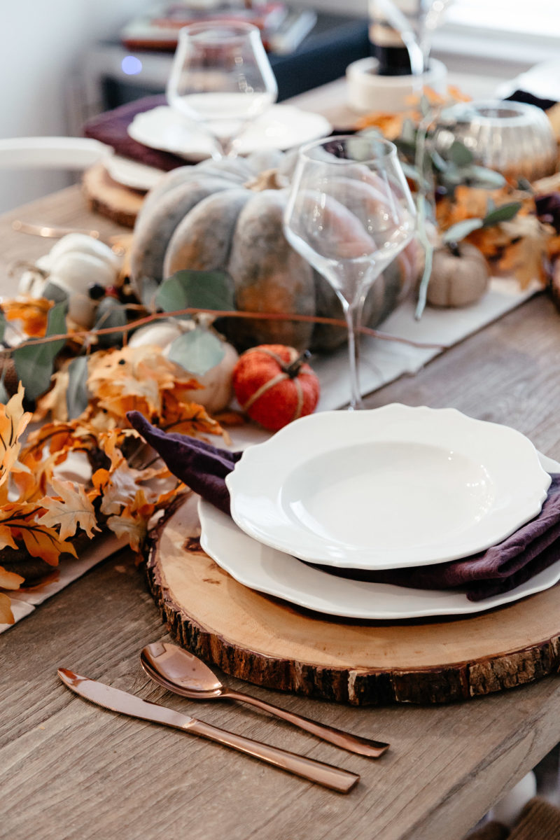 place settings, holiday decor, fall decorations