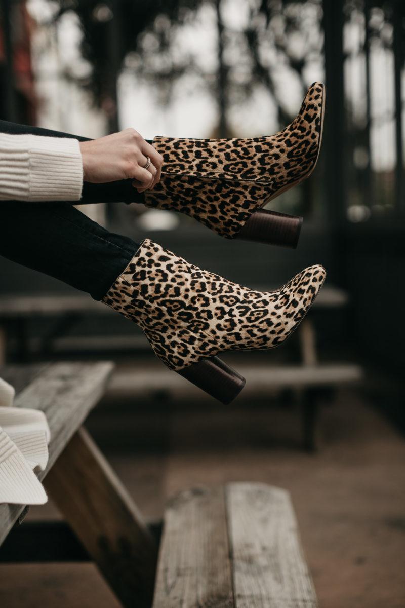 leopard booties, fall trend, nordstrom