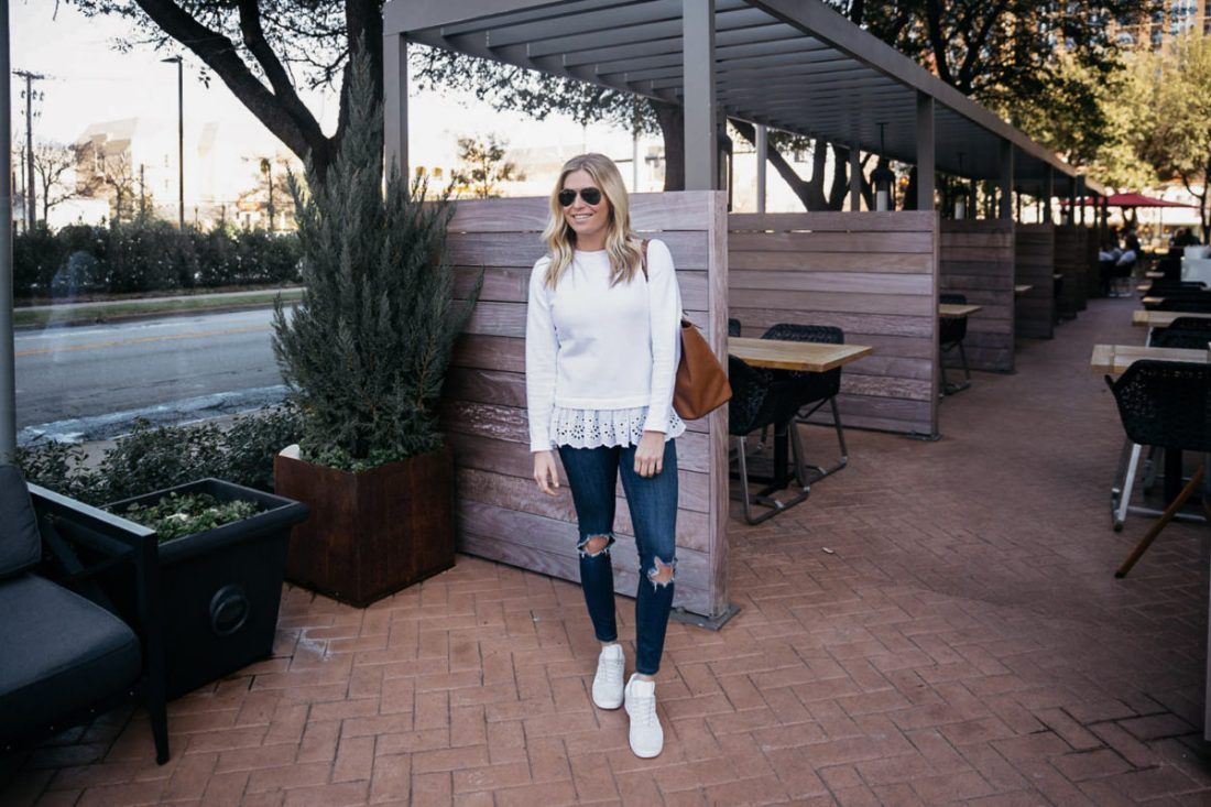 dallas fashion blogger, casual spring outfit 2018, brooke burnett