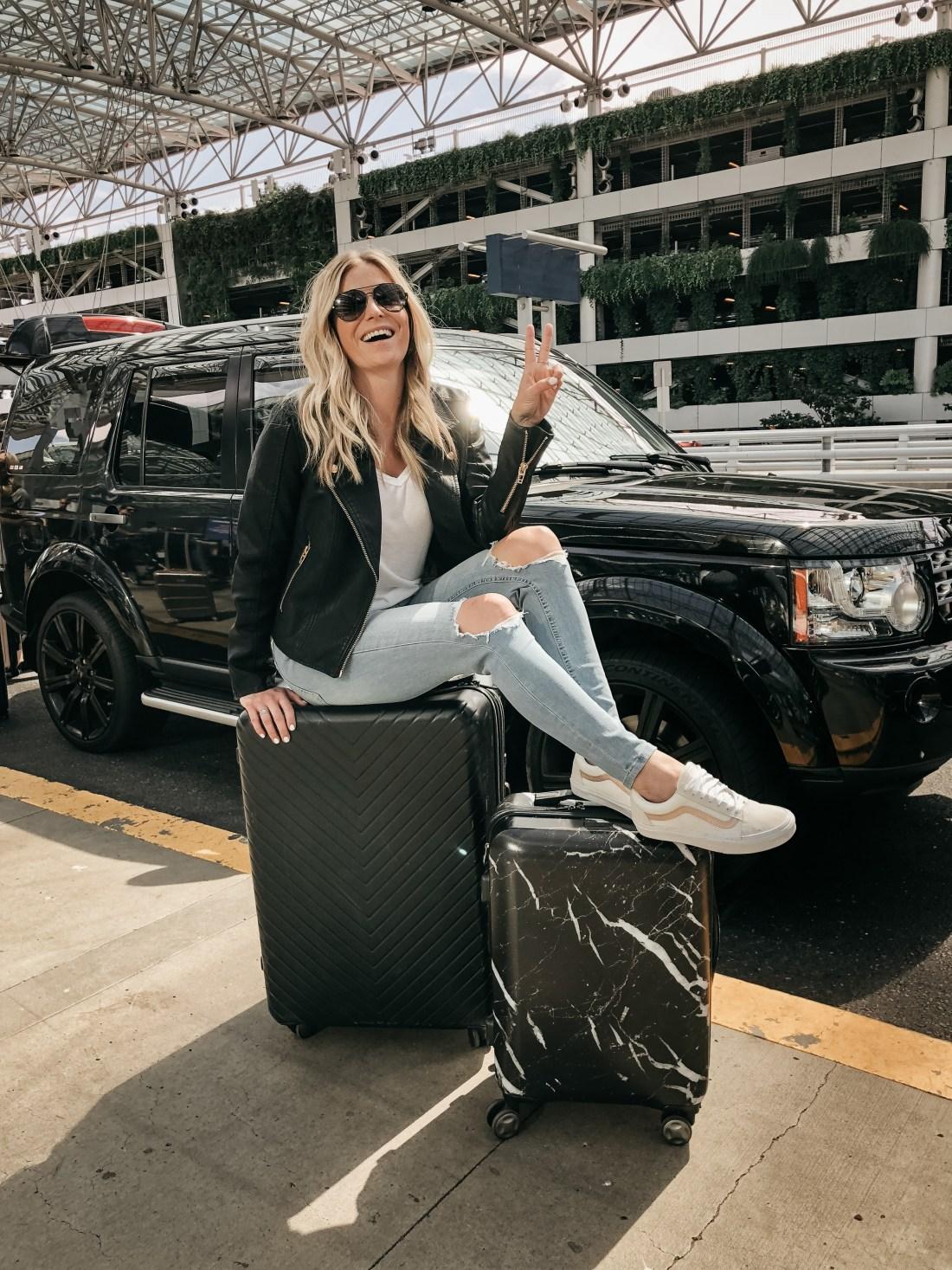 Chevron 29-Inch Spinner Suitcase NORDSTROM