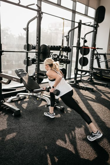 SINGLE ARM SUPPORTED DUMBBELL ROW