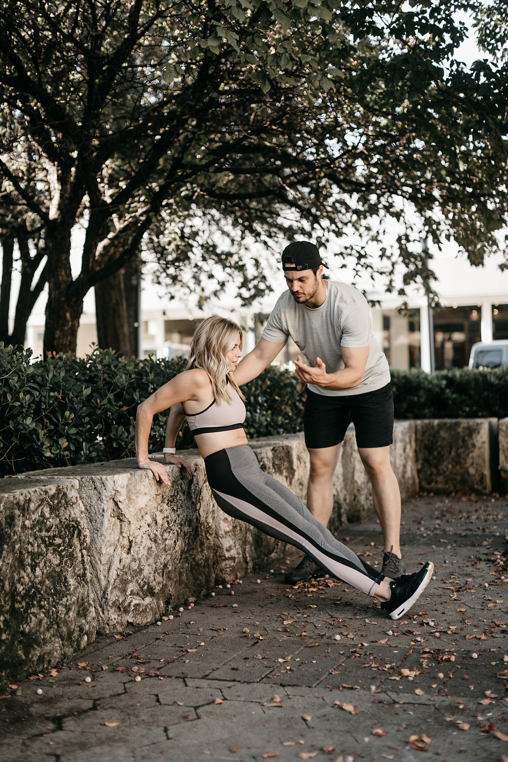 two people doing a HIIT Workout On The Go