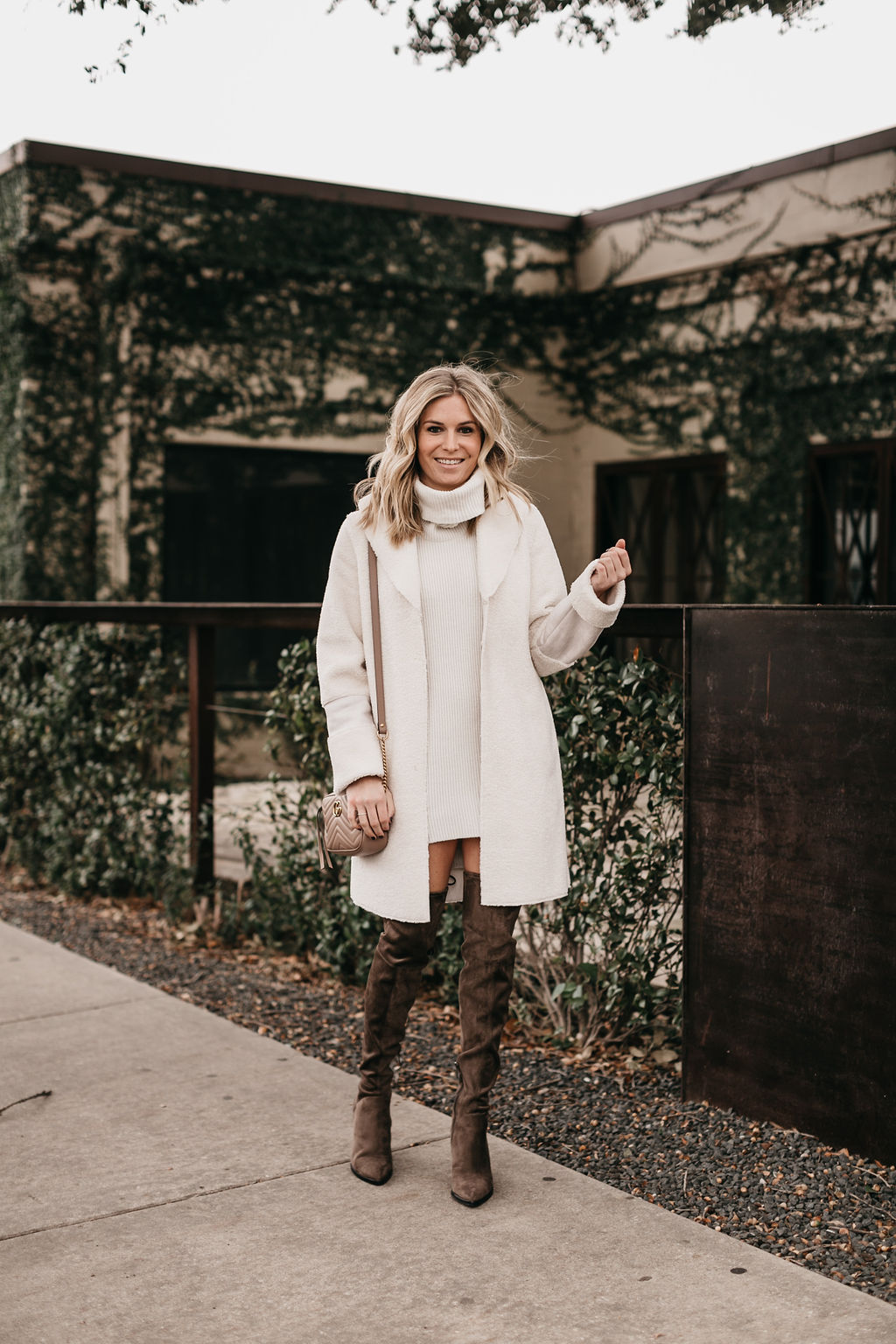 WINTER WHITE COAT - ONE SMALL BLONDE