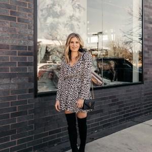 Express leopard dress