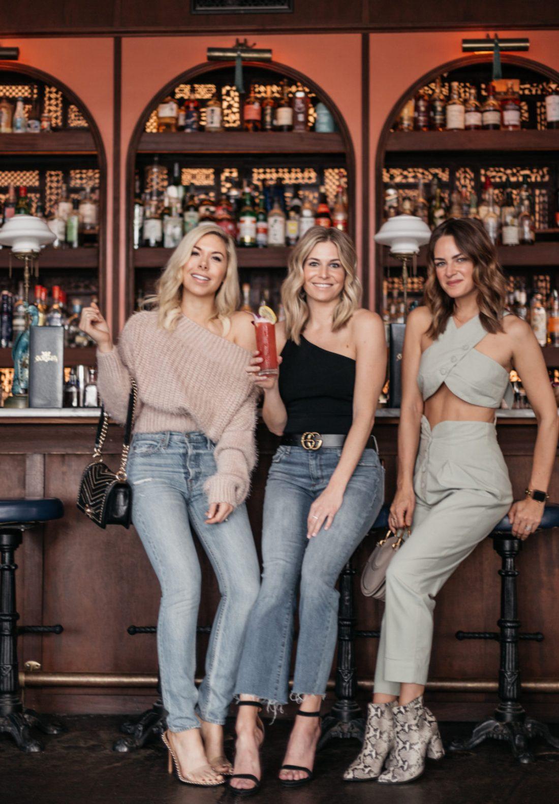 Brooke Burnett and her friends in Austin