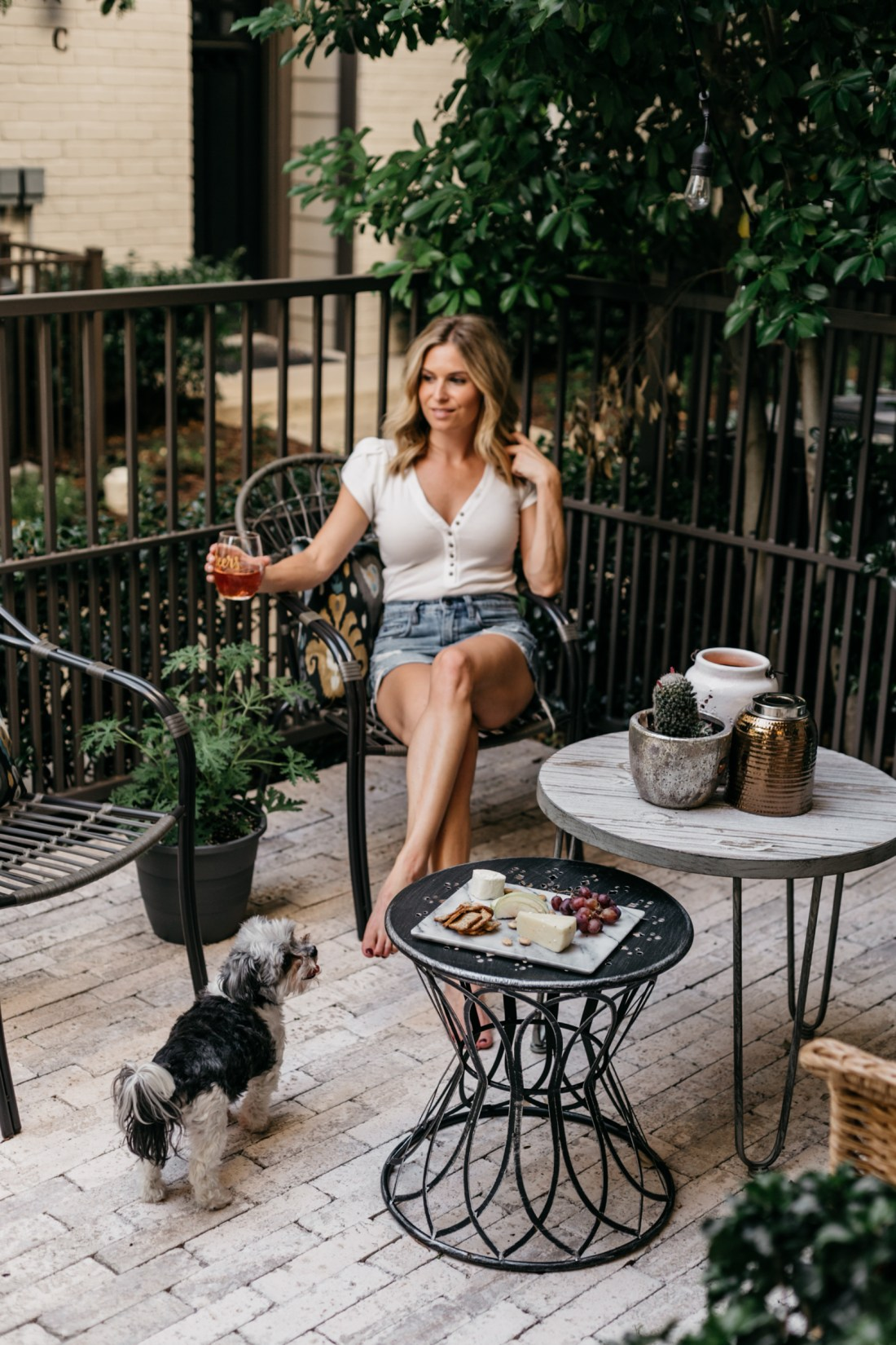 One Small Blonde is sharing her patio
