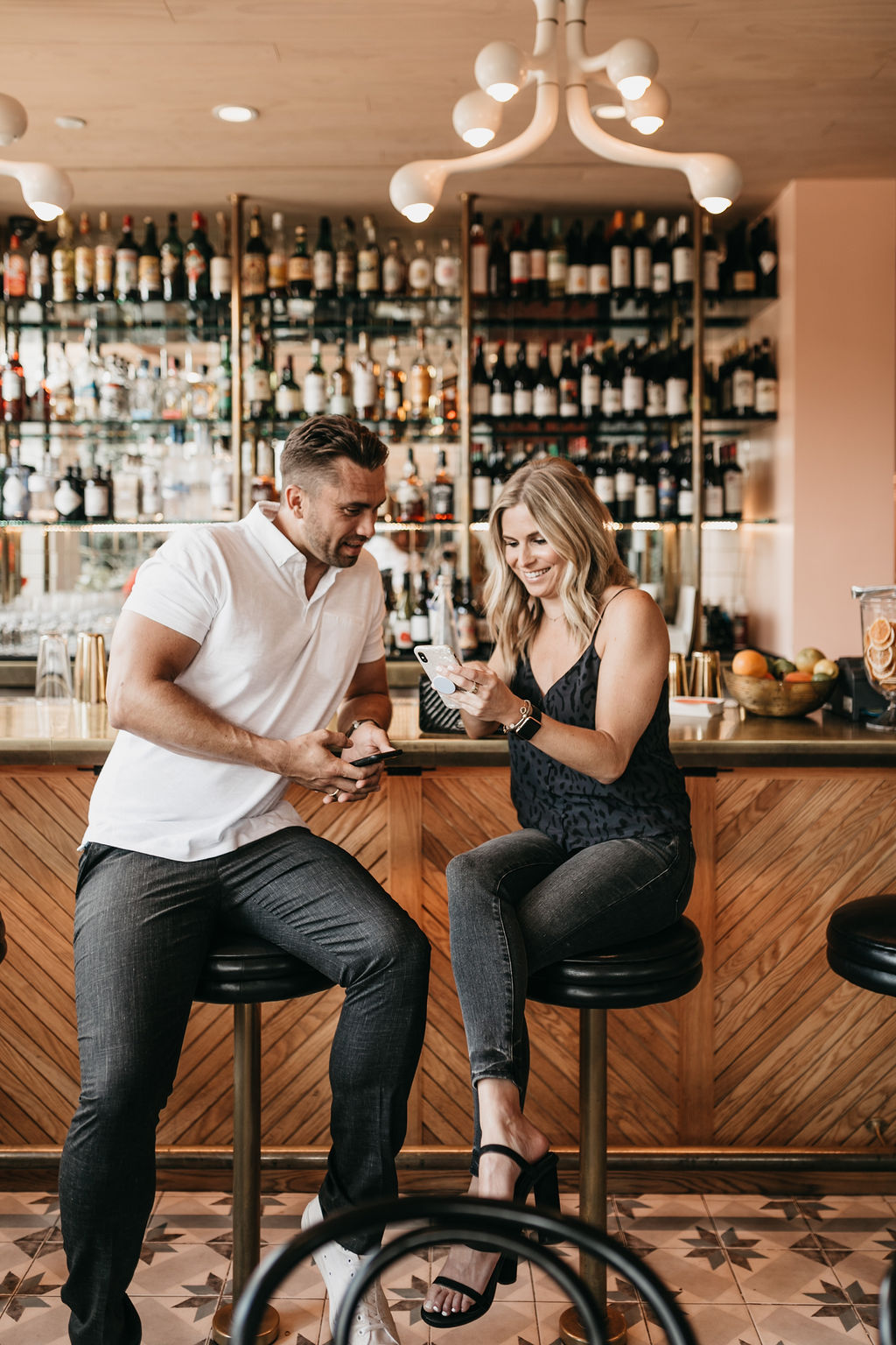 two people at a bar